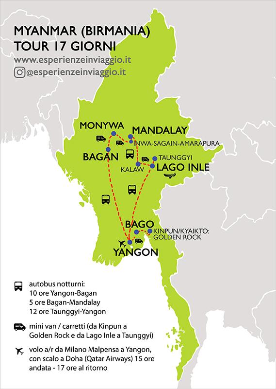 Itinerario Myanmar Esperienzeinviaggio.it