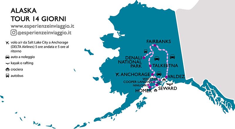 Alaska Itinerario Esperienzeinviaggio.it