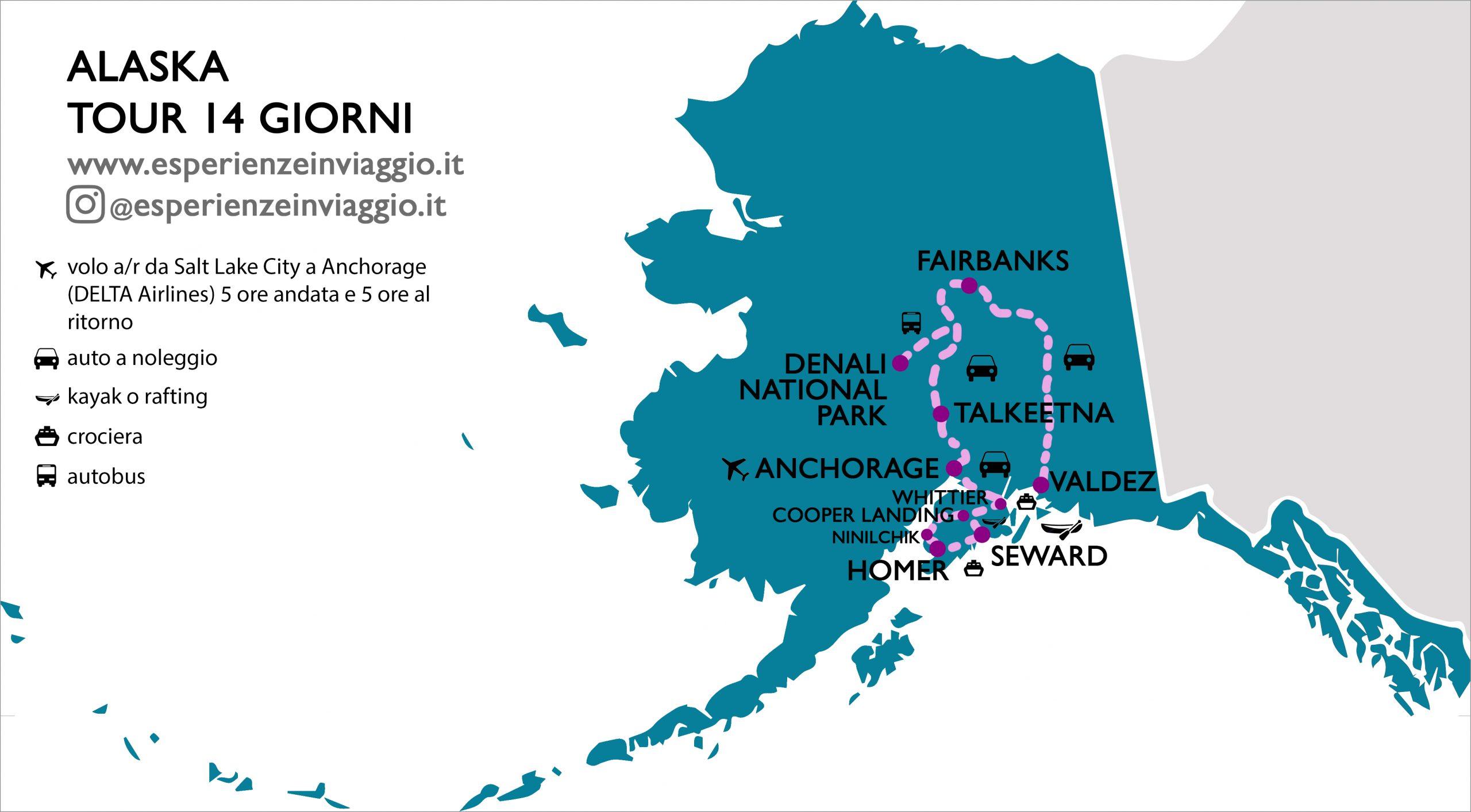 Alaska, Itinerario Esperienze in viaggio
