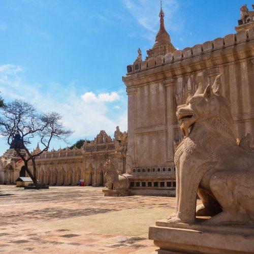 Ananda Pahto, Dettaglio del Leone, Bagan, Myanmar