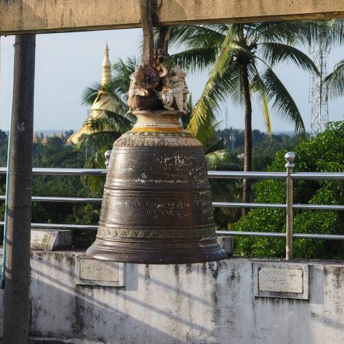 Campana, Tempio a Bago, Viaggio in Myanmar