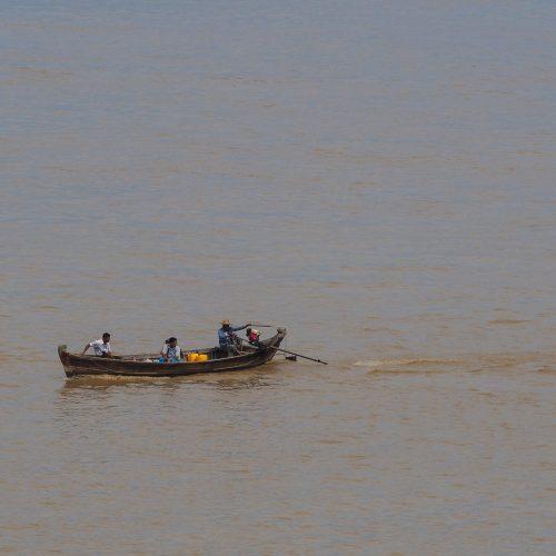 Imbarcazione a Bagan, Myanmar