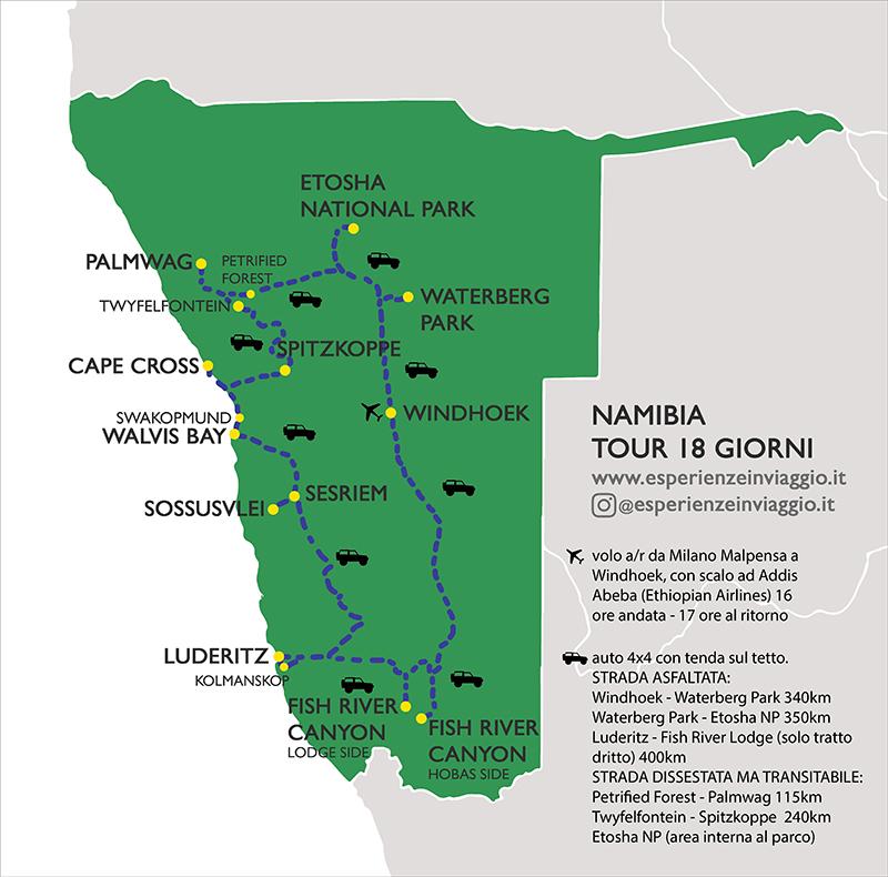 Namibia Itinerario Esperienzeinviaggio.it