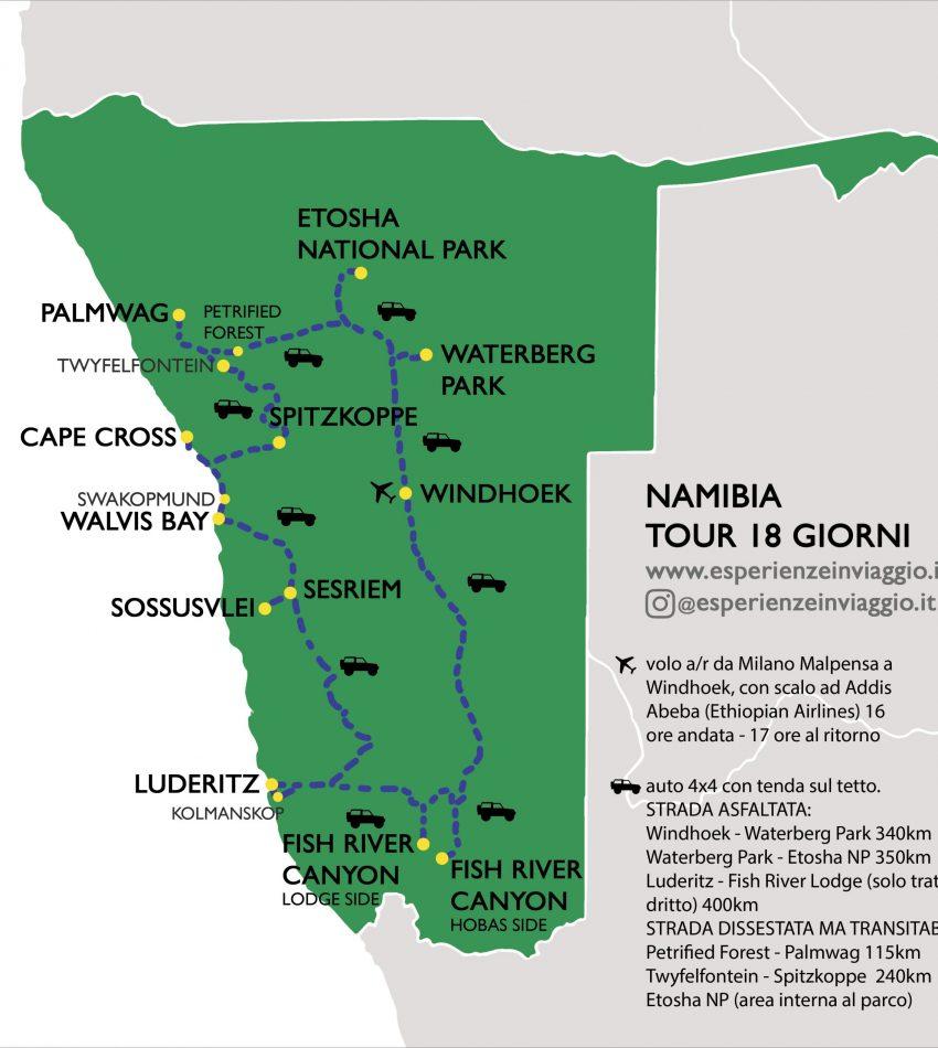 Namibia, Itinerario, Esperienze in viaggio.it