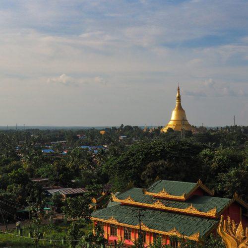 Vista del paese, Bago, Myanmar